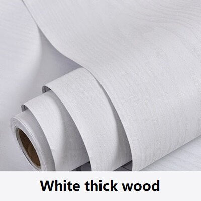 White Waterproof Self Adhesive Wood Effect Wallpaper - 1M/2M