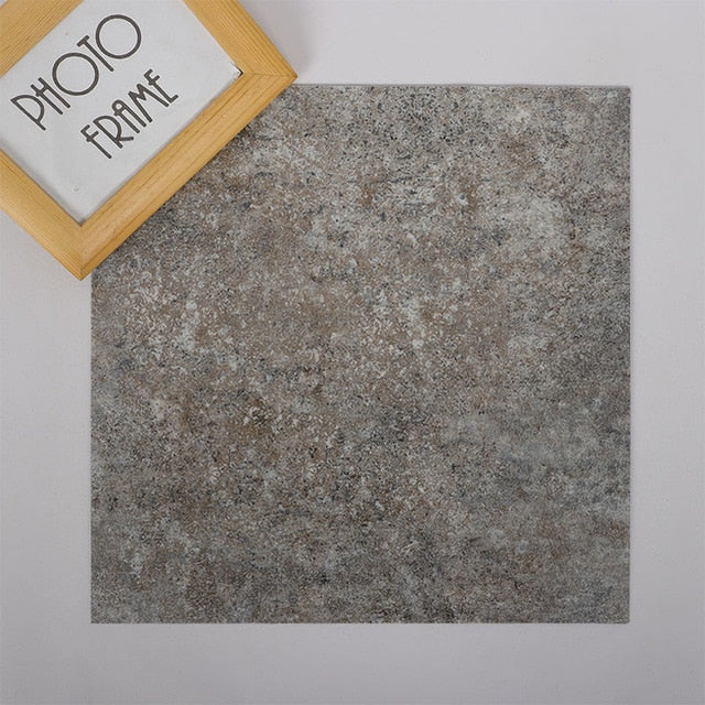 Grey Waterproof Self Adhesive Granite Floor Stickers