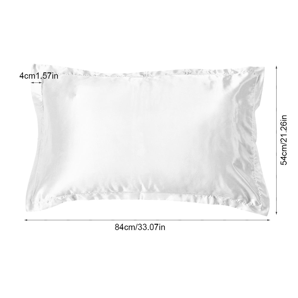 2 Piece Mulberry Stain Silk Pillow Case With Zipper - 54 x 84cm