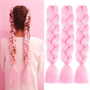 Single Ombre Color Synthetic Hair Extension
