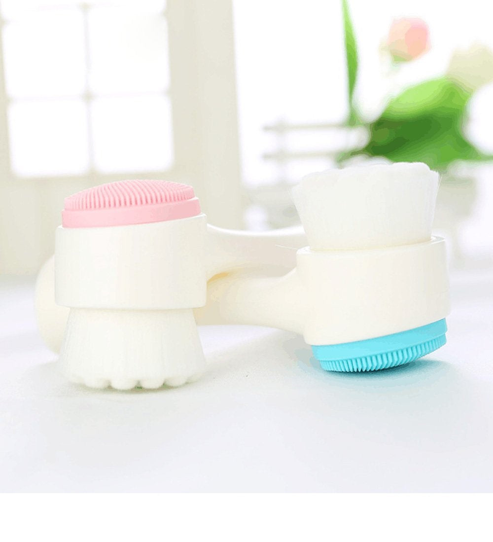Double Side Silicone Face Cleansing Brush