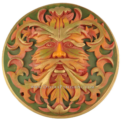 Green Man Plaque - Autumn