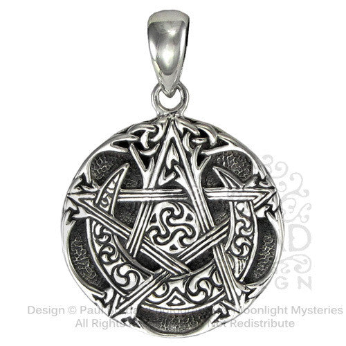 Dryad design small sterling silver moon pentacle pendant optimysm dryad design small sterling silver moon pentacle pendant aloadofball Gallery