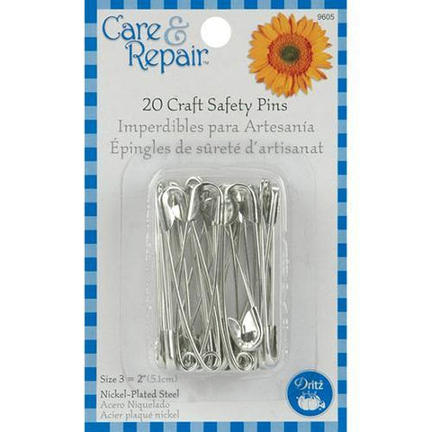 Dritz Care & Repair Craft Safety Pins 20/Pkg-Size 3