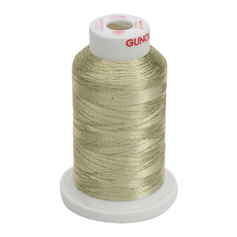 7003- 30 WT METALLIC METY 5/2 MINI-KING 1,100 YDS - Lt. Gold