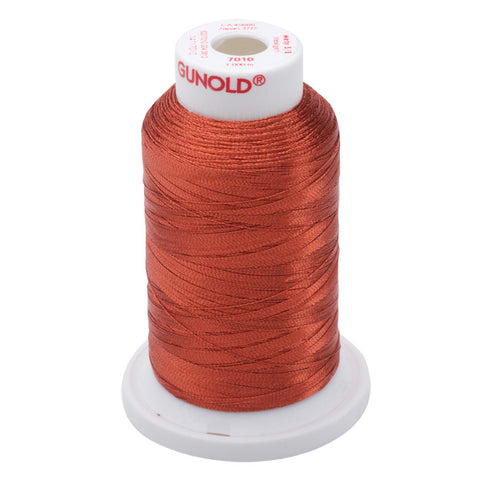 7010- 30 WT METALLIC METY 5/2 MINI-KING 1,100 YDS - Dk. Copper