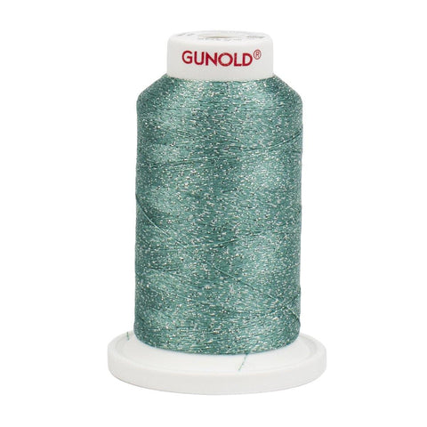 50571 - Light Teal with Silver Sparkle 30 Wt Gunold Poly Star