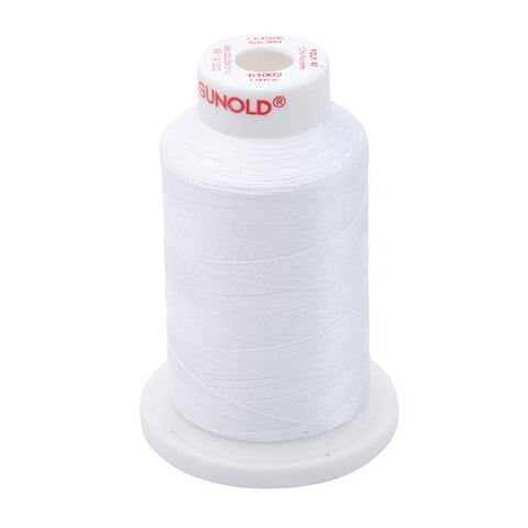 61002 - Soft White Polyester Embroidery Thread - 40 WT. 1,100 yd Cones