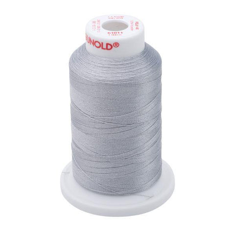 61011 - Steel Gray Polyester Embroidery Thread - 40 WT. 1,100 yd. Cones