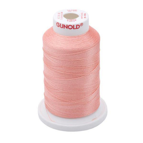 61019 - Peach Polyester Embroidery Thread - 40 WT. 1,100 YD. Cones