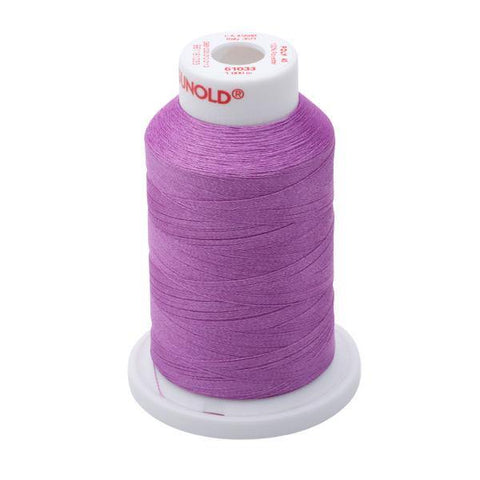 61033 - Dark Orchid Polyester Embroidery Thread - 40 WT. 1,100 YD. Cones