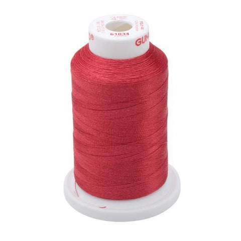 61034 - Burgundy Polyester Embroidery Thread - 40 WT. 1,100 YD. Cones