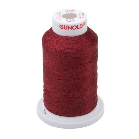 61035 - Dark Burgundy Polyester Embroidery Thread - 40 WT. 1,100 YD. Cones