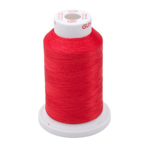 61037 - Light Red Polyester Embroidery Thread - 40 WT. 1,100 yd. Cones