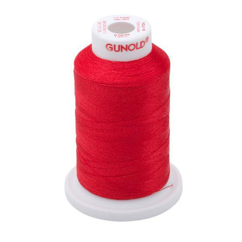 61039 - True Red Polyester Embroidery Thread - 40 WT. 1,100 yd. Cones - Oh My Crafty Supplies Inc.
