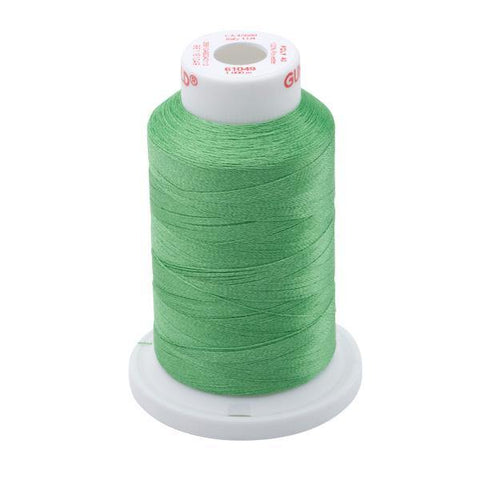 61049 - Grass Green Polyester Embroidery Thread - 40 WT. 1,100 yd. Cones