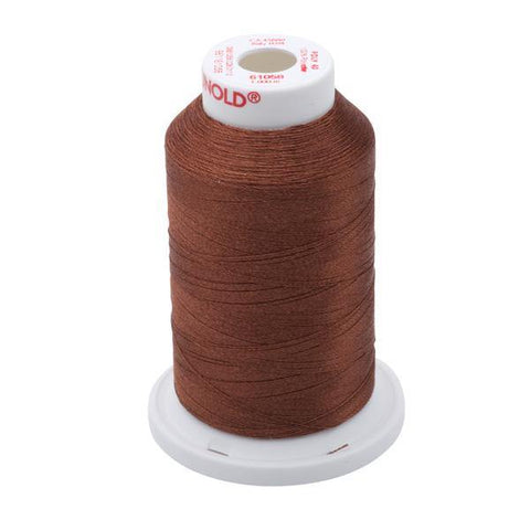 61058 - Tawny Brown Polyester Embroidery Thread - 40 WT. 1,100 yd. Cones