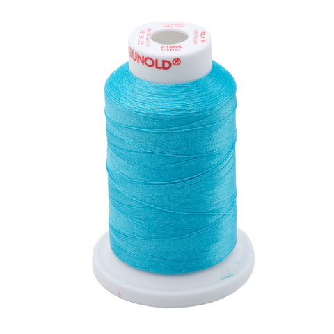 61095 - Turquoise Polyester Embroidery Thread - 40 WT. 1,100 yd. Cones