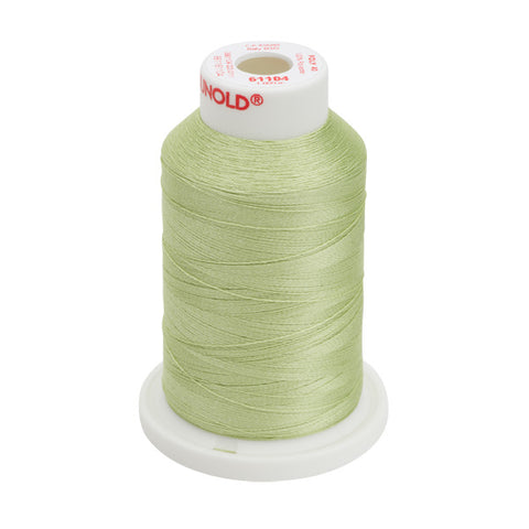 61104 - Pastel Yellow-Green Polyester Embroidery Thread - 40 WT. 1,100 yd. Cones