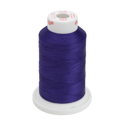 61112 - Royal Purple Polyester Embroidery Thread - 40 WT. 1,100 yd. Cones