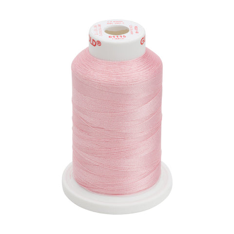 61115 - Light Pink Polyester Embroidery Thread - 40 WT. 1,100 yd. Cones