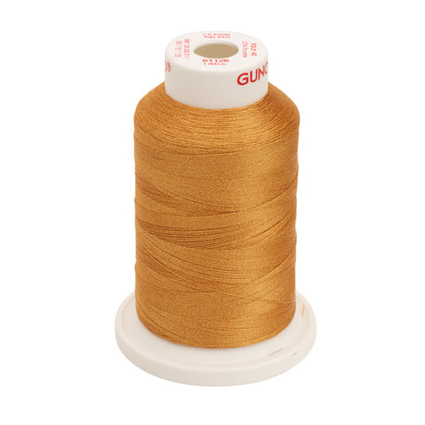 61126 - Tan Polyester Embroidery Thread - 40 WT. 1,100 yd. Cones