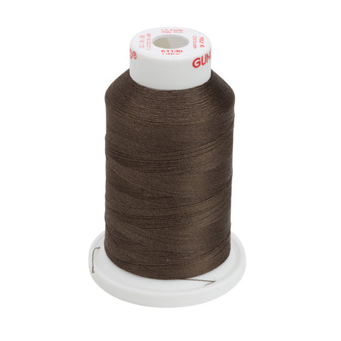 61130 - Dark Brown Polyester Embroidery Thread - 40 WT. 1,100 yd. Cones