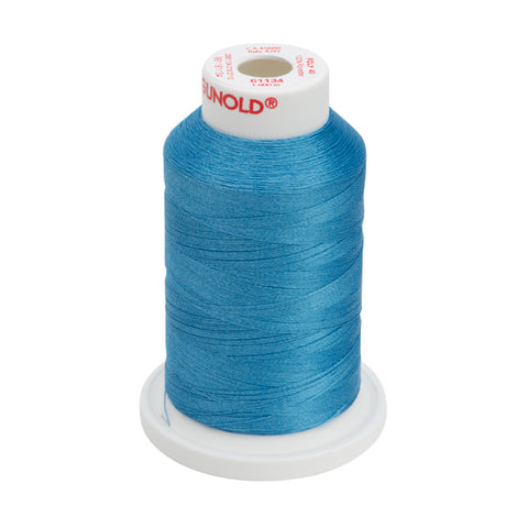 61134 - Peacock Blue Polyester Embroidery Thread - 40 WT. 1,100 yd. Cones