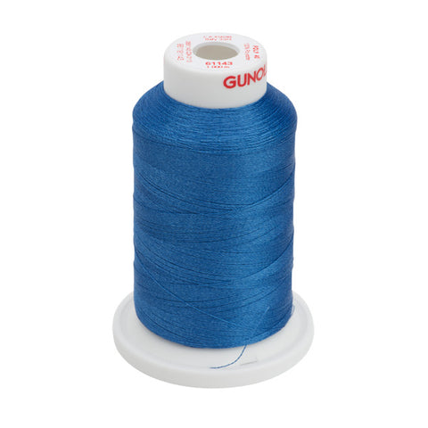 61143 - True Blue Polyester Embroidery Thread - 40 WT. 1,100 yd. Cones