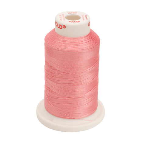 61148 - Light Coral Polyester Embroidery Thread - 40 WT. 1,100 yd. Cones