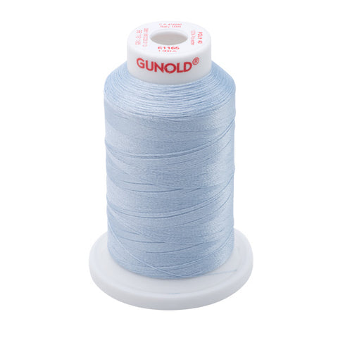 61165 - Light Sky Blue Polyester Embroidery Thread - 40 WT. 1,100 yd. Cones