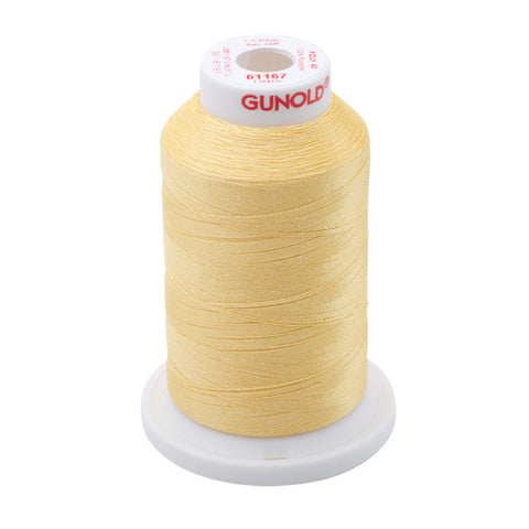 61167 - Maize Yellow Polyester Embroidery Thread - 40 WT. 1,100 yd. Cones