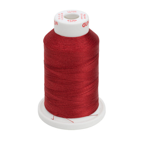 61169 - Bayberry Red Polyester Embroidery Thread - 40 WT. 1,100 yd. Cones