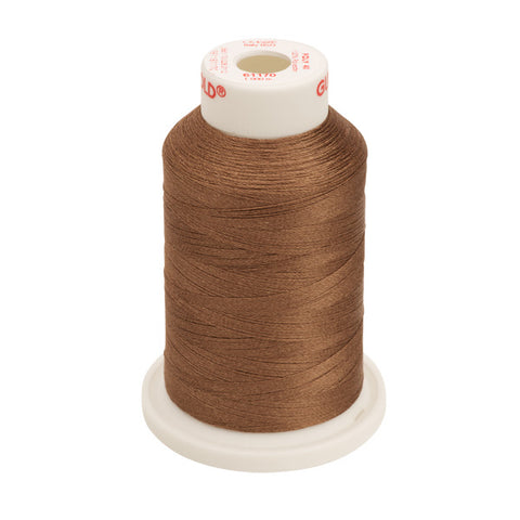 61170 - Light Brown Polyester Embroidery Thread - 40 WT. 1,100 yd. Cones
