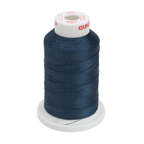 61171 - Weathered Blue Polyester Embroidery Thread - 40 WT. 1,100 yd. Cones