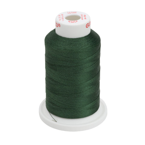 61174 - Dark Pine Green Polyester Embroidery Thread - 40 WT. 1,100 YD. Cones