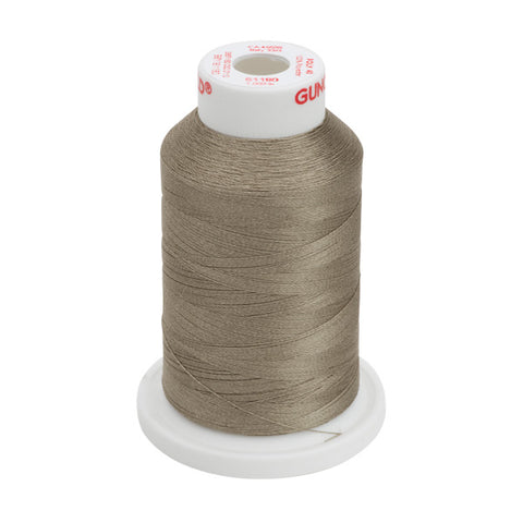 61180 - Medium Taupe Polyester Embroidery Thread - 40 WT. 1,100 yd. Cones