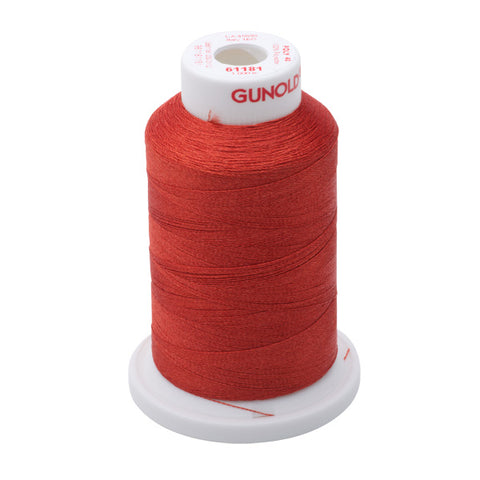 61181 - Rust Polyester Embroidery Thread - 40 WT. 1,100 yd. Cones