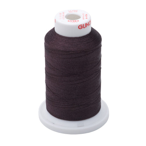 61183 - Black Cherry Polyester Embroidery Thread - 40 WT. 1,100 yd. Cones