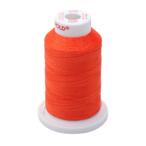 61184 - Orange Red Polyester Embroidery Thread - 40 WT. 1,100 yd. Cones