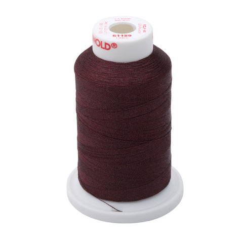 61189 - Dark Chestnut Polyester Embroidery Thread - 40 WT. 1,100 yd. Cones