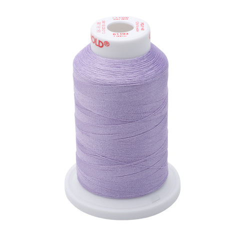 61193 - Lavender Polyester Embroidery Thread - 40 WT. 1,100 yd. Cones