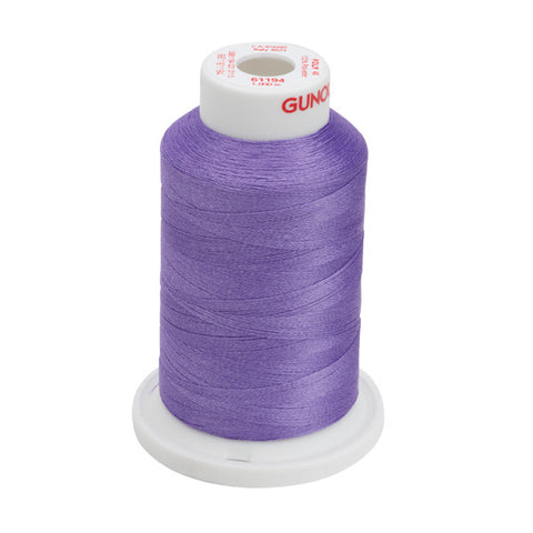61194 - Light Purple Polyester Embroidery Thread - 40 WT. 1,100 yd. Cones