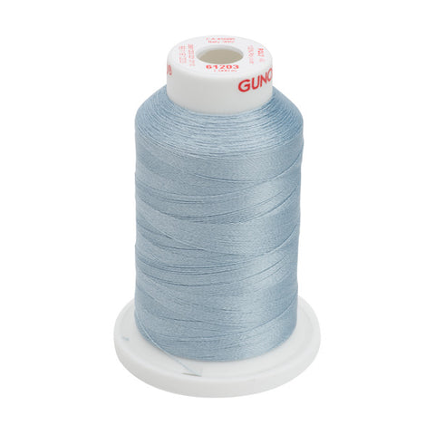 61203 - Light Weathered Blue Polyester Embroidery Thread - 40 WT. 1,100 yd. Cones
