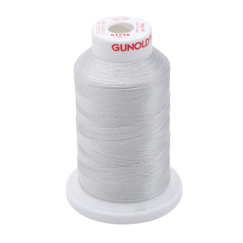 61218 - Silver Gray Polyester Embroidery Thread - 40 WT. 1,100 yd. Cones