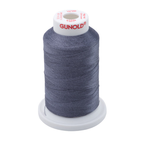 61220 - Charcoal Gray Polyester Embroidery Thread - 40 WT. 1,100 yd. Cones
