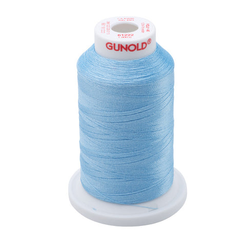 61222 - Light Baby Blue Polyester Embroidery Thread - 40 WT. 1,100 yd. Cones