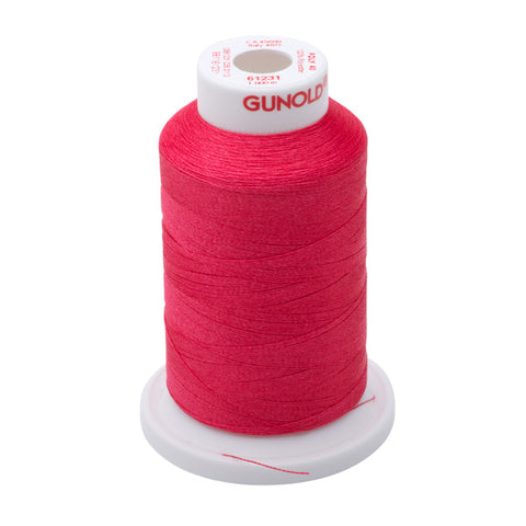 61231 - Medium Rose Polyester Embroidery Thread - 40 WT. 1,100 yd. Cones
