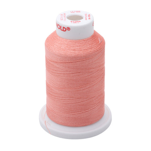 61259 - Salmon Peach Polyester Embroidery Thread - 40 WT. 1,100 yd. Cones
