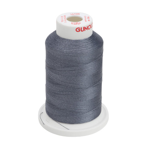 61354 - Dark Cool Gray Polyester Embroidery Thread - 40 WT. 1,100 yd. Cones